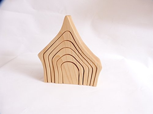 Bauklötze-Set | Schneewittchenhaus | Hexenhaus 6062 | kreative Spielmöglichkeiten | massives Holz | handgefertigt, robust und stabil | viele Ergänzungsmöglichkeiten |