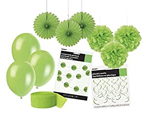 Unique Party- Party Kit, Color verde lima (63842)