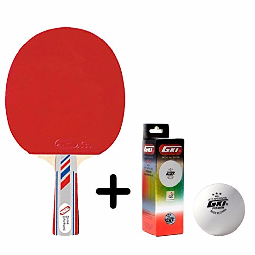 GKI Dynamic Drive Table Tennis Combo Set (GKI Dynamic Drive Table Tennis Racquet + GKI Premium 3 Star 40 Table Tennis Ball, Box of 3 - White)  available at amazon for Rs.1148