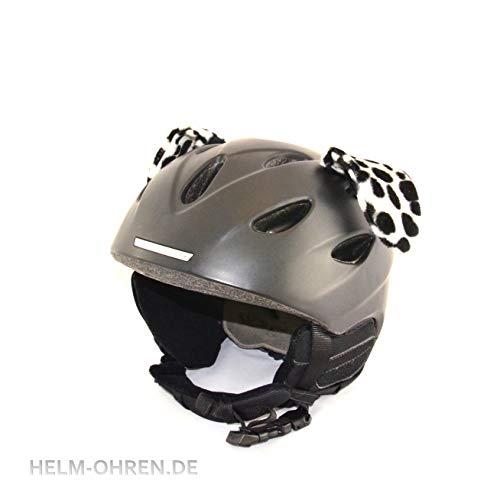"""Helm - Ohren""""Dalmatiner-Hund"""" für den Skihelm, Snowboardhelm, Motorradhelm oder Fahrradhelm - Coole Helmdeko/Tierohren!"""