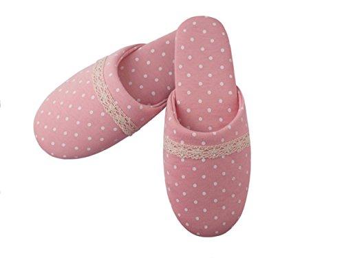 TWINS Fashion « Vienna » schöne & süße Damen-Hausschuhe I Latschen I Pantoffeln I Slippers - Plüsch Baumwolle rutschfest - diverse Farben (36/37, Rosa) (Hello Erwachsene Kitty-schuhe Für)