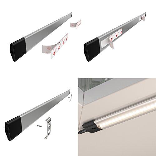 parlat LED Unterbau-Leuchte SIRIS mit Netzteil, flach, 30cm, 220lm, warm-weiß