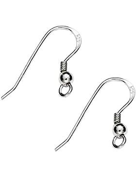 5 Paar Ohrhänger 18mm 925 Sterling Silber gestempelt und nickelfrei für die Schmuckherstellung