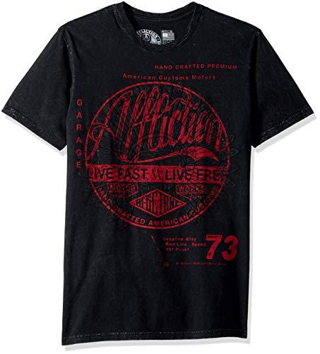 Affliction Herren Motor Works Tribe T-Shirt, Black Lava Wash, 3X-Groß - Affliction T-shirt Aus Baumwolle