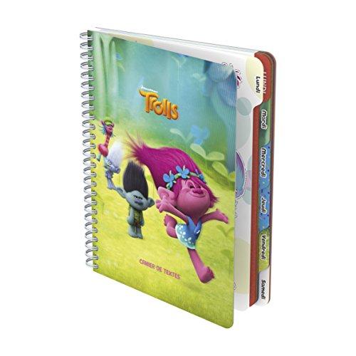 Trolls Cahier de Texte couverture en polypro Effet 3D 17 x 22 cm