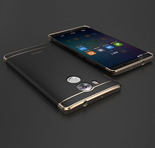 Huawei Mate 8 Hülle, DEMEDO (Plating Splicing Serie) PC Back Shell mit Überzug, Kamera Objektivschutz, 360 ° Schutzhülle für Mate 8 (Schwarz)