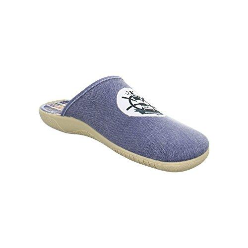 Schuhdiscount Herren Hausschuhe Blau