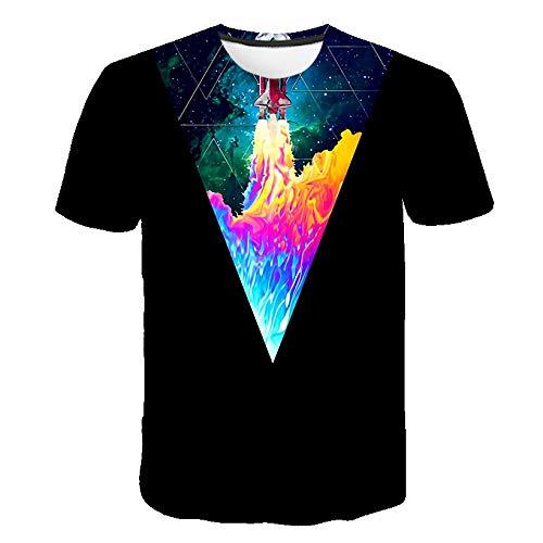 Preisvergleich Produktbild ljradj banxiu Kurzarm T-Shirt Männer atmungsaktiv lässig Taro 1121 6XL
