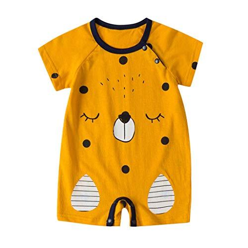 feiXIANG Baby Kleidung Neugeborenes Overall Jungen Mädchen Karikatur Strampler für 0-18 Months(Gelb,73)