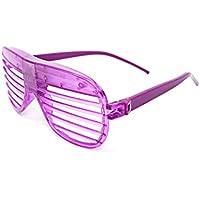 Ultra® lampeggiante di Retro stile di otturatore LED occhiali fessurati per adulti e bambini feste eventi rave e discoteche e feste in rosa, verde, blu, viola e bianco