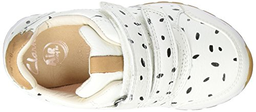 Clarks - Zest Max Inf, Scarpe da ginnastica Bambina Bianco (White Combi)
