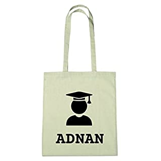 JOllify Cotton Bag Personalised Graduation Gift for Adnan BHD5080, Absolventin - Absolvent