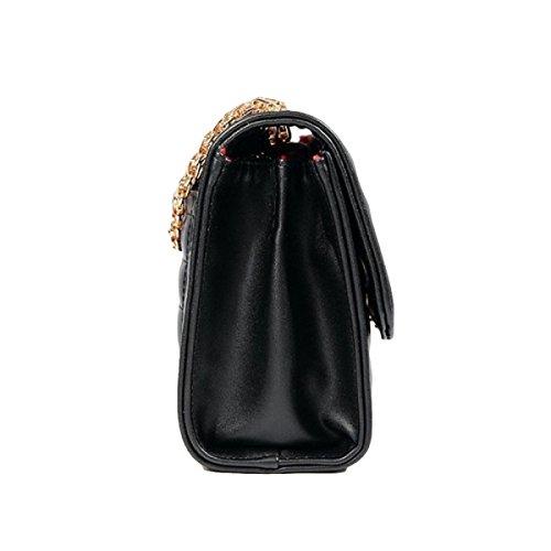 Borsa Tracolla Borsa Catena Lingge Moda Messenger Bag Selvatici Black