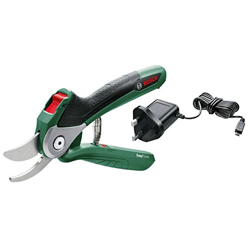 Bosch 06008B2070 Electric Secateur EasyPrune (USB Charger, Soft Case, 1.5 Ah), Green