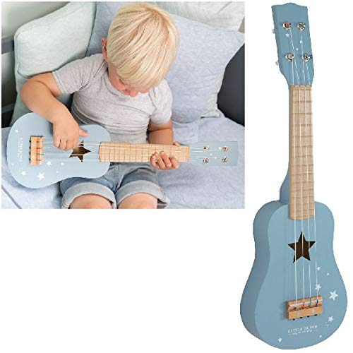 LITTLE DUTCH 4409 Kinder Gitarre Holz adventure blue