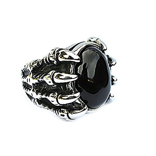 mens-stainless-steel-rings-sharp-eagle-claw-black-resin-stone-with-frontal-skull-head-gothic-18cm-si