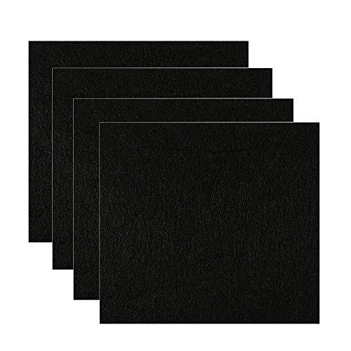 AOLVO 15,2 cm Kohlefilter, Vorkohlenstofffilter mit Zeolith und Kohlenstoffgranulat, effektiv, Geruchskontrolle, einfach zuschneidbar, Ersatz-Filterpad für Luftreiniger, Katzenklo - 15,2 x 16,5 cm