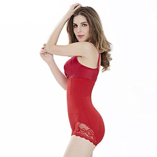 CHENGYANG Donna Shaping Guaina Contenitiva e Modellante Vita Alta Mutande Controllo Pancia Lingerie Rosso#01