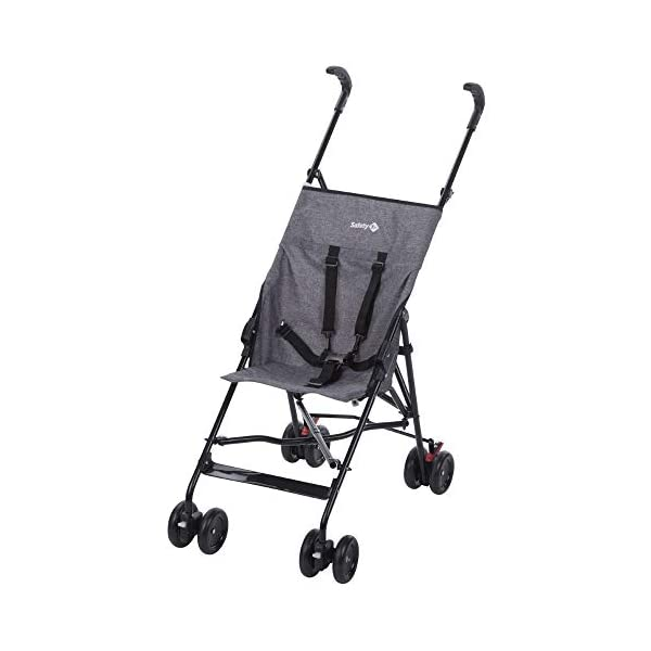 Safety 1st Peps Lightweight Buggy - 6 Months - 15kg Safety 1st Lightweight, only weighing 4.5kg so it's easy to carry Suspension on front wheels for a smooth ride Highly manoeuvrable with the swivelling front wheels 1