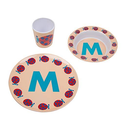 byGraziela ABC Melamingeschirr-Set M (Und M M Personalisiert)
