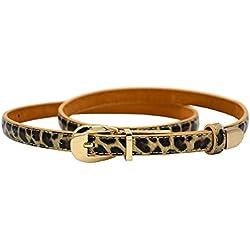 angel star - Cinturón - para mujer Multicolor leopardo Talla única