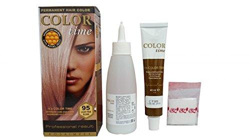 Haarfärbung Rosa-Blond 95, permanent, 2 Stück (Wella-gel-haarfarbe)