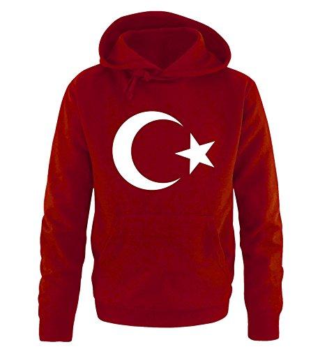 Comedy Shirts Türkei - Wappen - Herren Hoodie - Rot/Weiss Gr. XXL