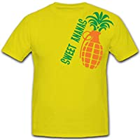Sweet Ananas frutta mano granata - T-Shirt #5574 - Frutta Air