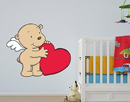 Preisvergleich Produktbild Wandtattoo Engelchen mit Herz B x H: 40cm x 33cm von Klebefieber®