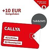 Vodafone CallYa Talk & SMS (9 Cent pro Minute/SMS in alle deutschen Netze) Prepaid Handy SIM Karte mit 10 Euro Startguthaben ehemals Tarif 5/15