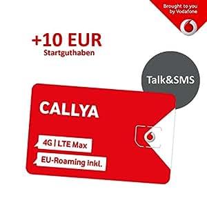 Callya Karte Freischalten.Vodafone Freikarte Callya Talk Sms 10 Euro Startguthaben