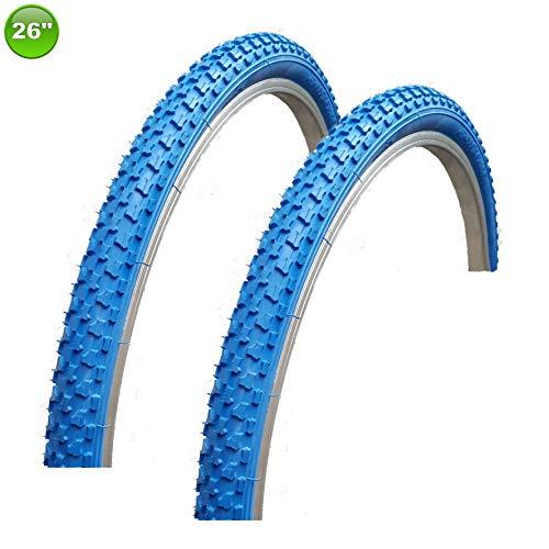 2 x maxxi4you Fahrradreifen Mantel Decke 26 x 1,75-47-559 Blau -
