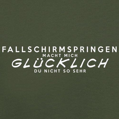 Fallschirmspringen macht mich glücklich - Herren T-Shirt - 13 Farben Olivgrün