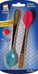 Gerber - Cuillère pour bébés NUK à partie creuse en silicone souple - 2/paquet (6 paquets)