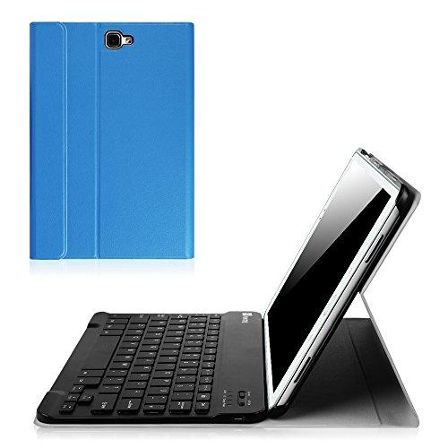 Fintie Blade X1 Samsung Galaxy Tab A 10.1 Bluetooth Tastatur Hülle Keyboard Case - Ultradünn leicht SmartShell Ständer Schutzhülle mit magnetisch abnehmbarer drahtloser deutscher Bluetooth Tastatur für Samsung Galaxy Tab A 10,1 Zoll T580N / T585N Tablet (2016 Version), Königsblau