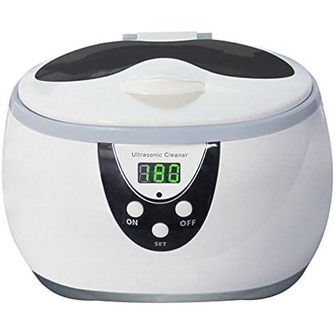 Limpiador ultrasónico Digital 600ml para joyas, soporte para gafas, diseño de, Relojes Y dentadura