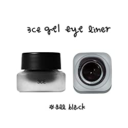 3CE GEL EYE LINER with Brush (All Black)