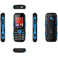Micromax X516 (mAh 1750, Torch Blink on Call, Auto Call Recording) (Black + Blue)