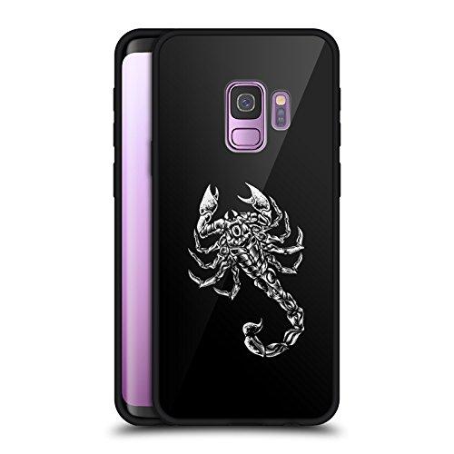 Head Case Designs Offizielle WWE Scorpion Sting Schwarz Rückseiten Hülle aus Hybrid Glass für Samsung Galaxy S9 Scorpion Hybrid