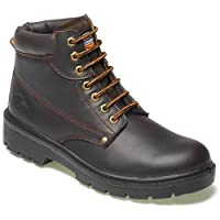Dickies Workwear Water Resistant ANTRIM Safety Boots - Brown - 10