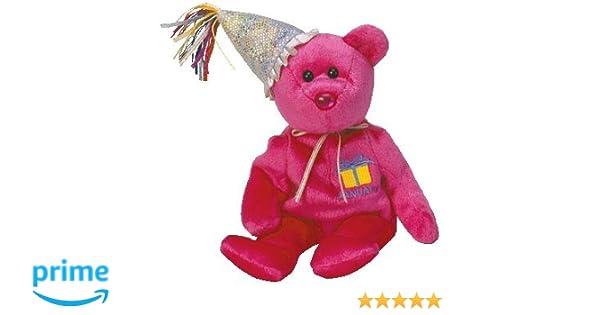 TY January Birthday Bear with Hat Beanie Baby  Amazon.co.uk  Toys ... ebafdb339d39