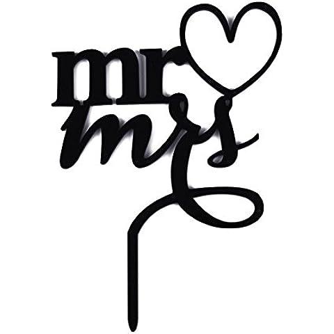 Alfabeto Inglese con Amore Cuore Stile Cake Topper per Festa di Compleanno Matrimonio Anniversario - Amore Del Cuore Torta Nuziale