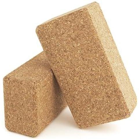 Eco-friendly in sughero naturale blocchi con bordi arrotondati per Comfort, contorni tagliati a mano, Natural, 23 x 12 x 7.5 cm