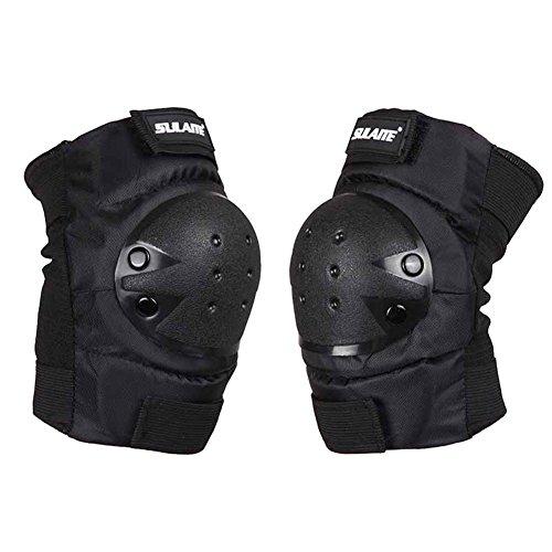Moresave Knieschoner Ellenbogenschützer Handgelenkschoner Schutzset für Skifahren, Motorrad, Skateboardfahren & Radfahren (Pad Schwarz Elbow Taktische)