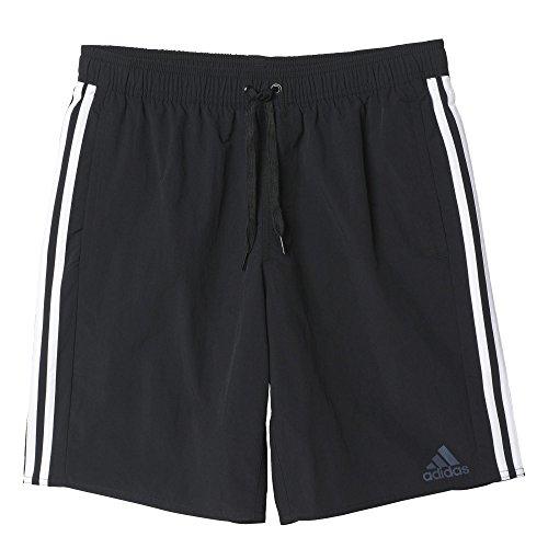 adidas Herren Badeshorts 3-Streifen, Black/White, M