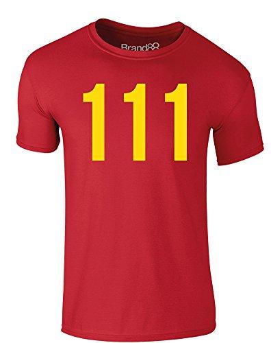 Brand88 - Vault 111, Erwachsene Gedrucktes T-Shirt Rote