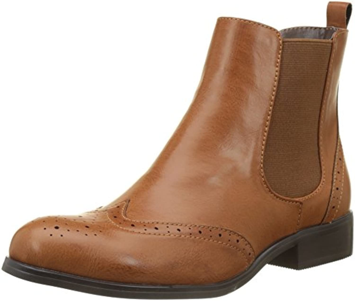 Buffalo Shoes B195a-61 P2173h Leather PU, Botas Chelsea para Mujer