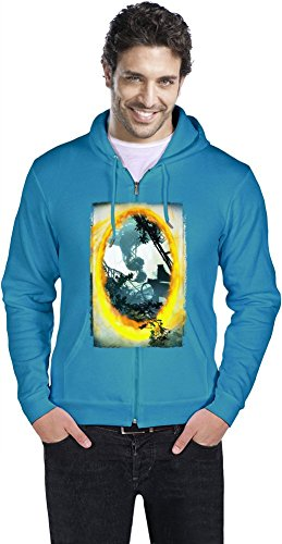 Portal 2 Männer ReißverschlussHoodie XX-Large