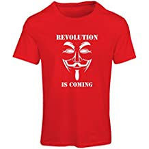 Frauen T-Shirt The Revolution Is Coming - the Anonymous hackers mask