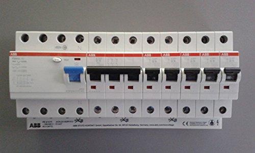 Preisvergleich Produktbild TM: ABB 1x FI F204A-40 / 0, 03 + 1x ABB LS-Schalter S203-B16 + 5x ABB LS-Schalter S201-B16 + 1x PS3 / 12+FI Sammelschiene